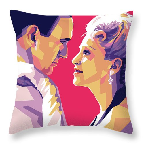 Madonna Throw Pillow featuring the digital art Madonna And Jonathan Pryce by Stars on Art