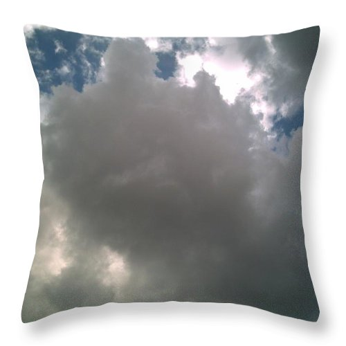 Cloud Throw Pillow featuring the photograph Majestic by Jeff Thomann