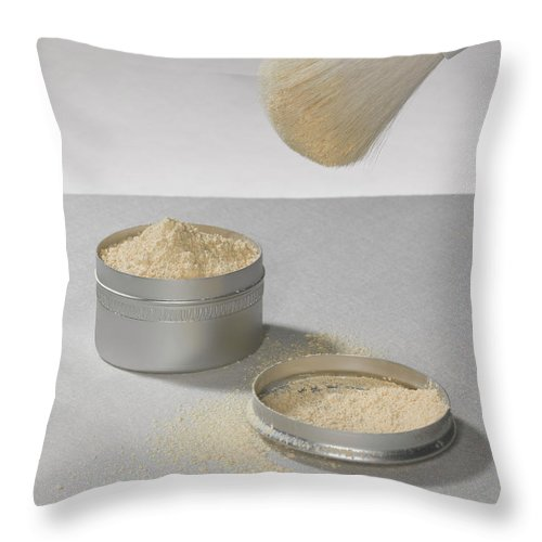 Heap Throw Pillow featuring the photograph Make Up Powder by Adrian Burke