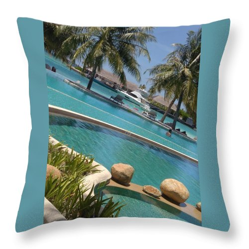 Water Throw Pillow featuring the photograph Maldivies by Aswini Moraikat Surendran