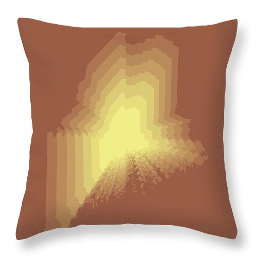 Maine Throw Pillow featuring the digital art Map Of Maine by Naxart Studio