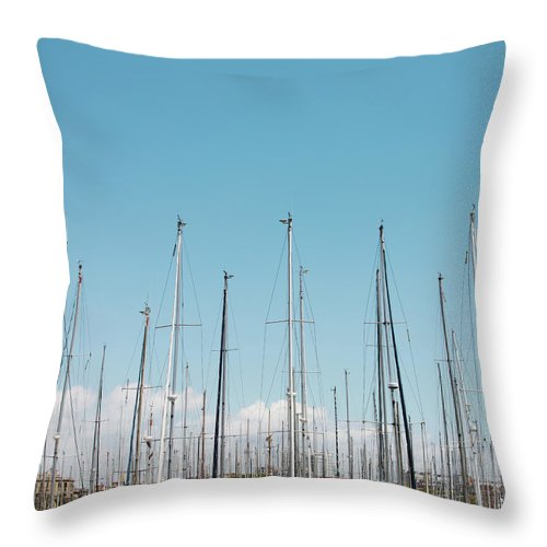 Sailboat Throw Pillow featuring the photograph Mastils by Roc Canals Photography