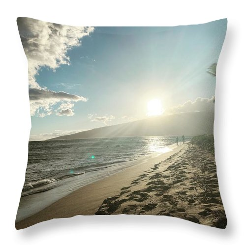 Hawaii Throw Pillow featuring the photograph Maui by Kristin Rogers