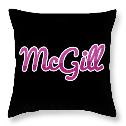 Mcgill Throw Pillow featuring the digital art Mcgill #mcgill by TintoDesigns