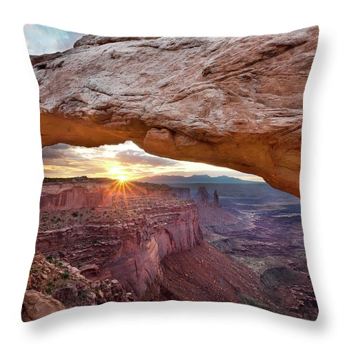 Tranquility Throw Pillow featuring the photograph Mesa Arch, Canyonlands, Utah by Simon J Byrne