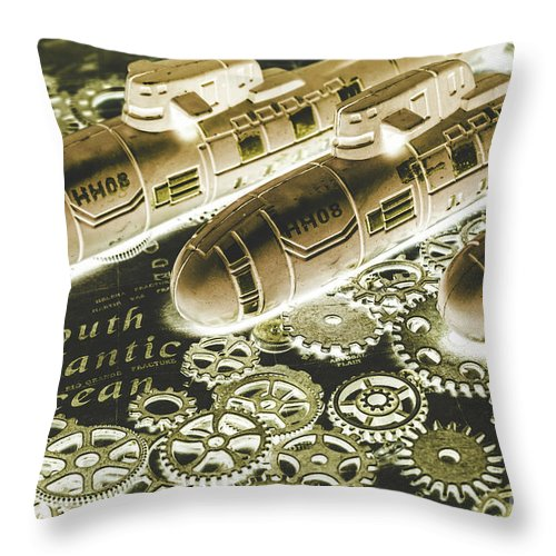 Battle Throw Pillow featuring the photograph Metal Gear Subbing by Jorgo Photography - Wall Art Gallery