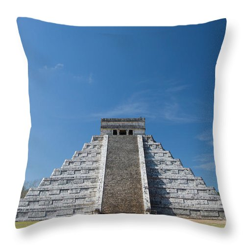 Latin America Throw Pillow featuring the photograph Mexico, Yucatan Peninsula, Yucatan by Adam Crowley