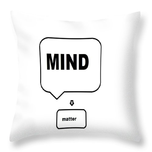 Print Throw Pillow featuring the digital art Mind over matter by Andrew Johnson