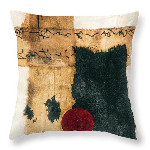 Collage Throw Pillow featuring the mixed media Mini Collage On Plaster by Carol Leigh