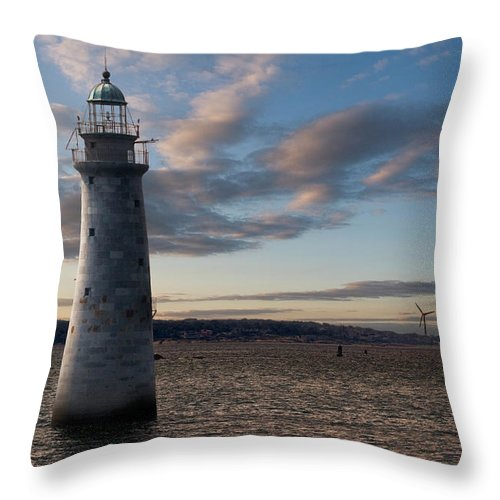 Scenics Throw Pillow featuring the photograph Minots Ledge Light, Boston Harbor by Kickstand