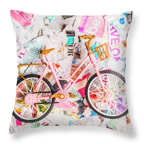 Papergirl Throw Pillow featuring the photograph Mode Of Transport by Jorgo Photography - Wall Art Gallery