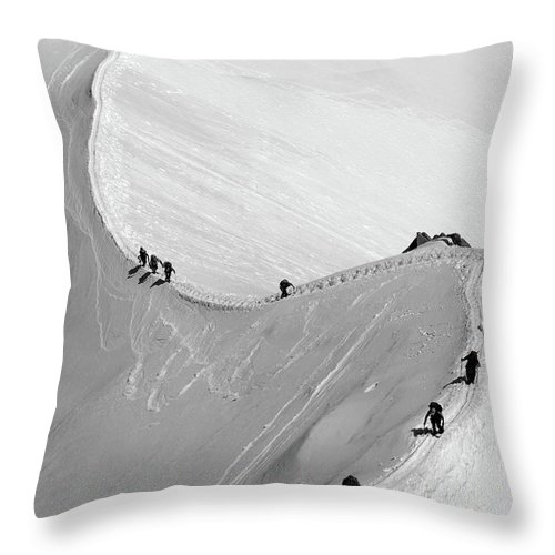 Scenics Throw Pillow featuring the photograph Mont Blanc by Yanis Ourabah