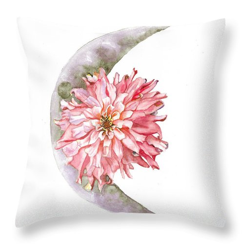 Moon Throw Pillow featuring the painting Open The Gate by Brittany Bert Selfe
