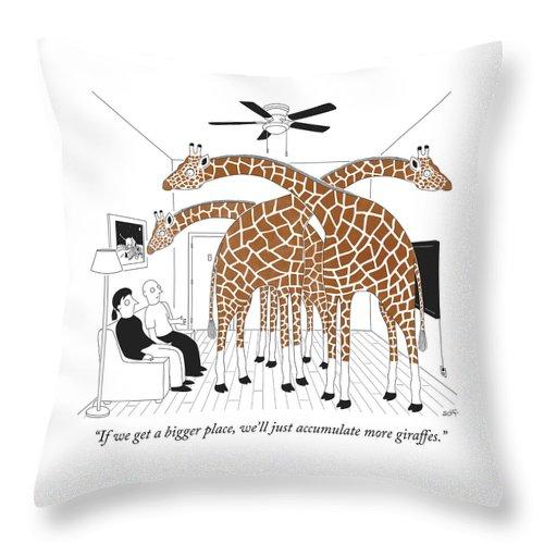More giraffes Throw Pillow