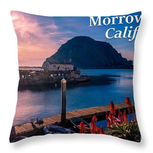 Morrow Bay Throw Pillow featuring the photograph Morrow Bay California by G Matthew Laughton
