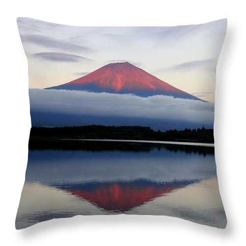 Scenics Throw Pillow featuring the photograph Mount Fuji by Japan From My Eyes