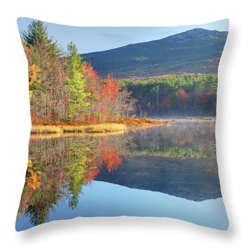 Scenics Throw Pillow featuring the photograph Mount Monadnock In Autumn by Denistangneyjr