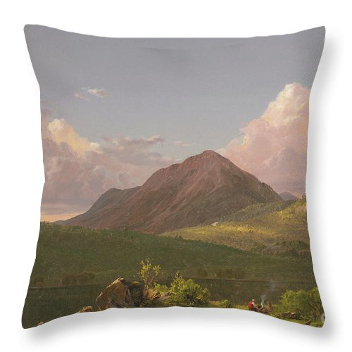 Mount Newport Throw Pillow featuring the painting Mount Newport On Mount Desert Island by Frederic Edwin Church
