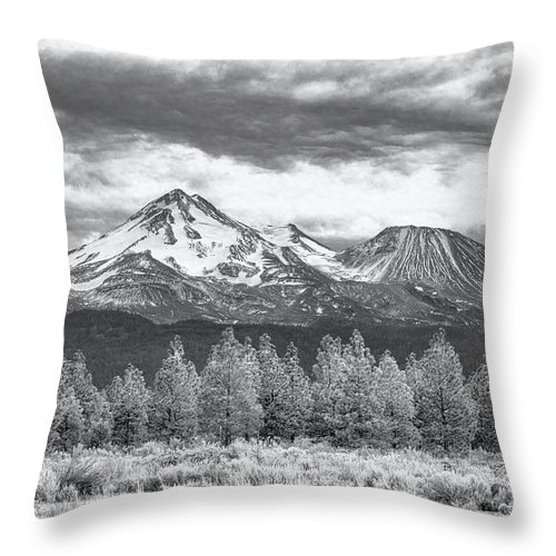 California Throw Pillow featuring the photograph Mount Shasta 3 by Jim Thompson