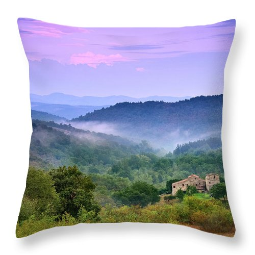 Scenics Throw Pillow featuring the photograph Mountains by Christian Wilt
