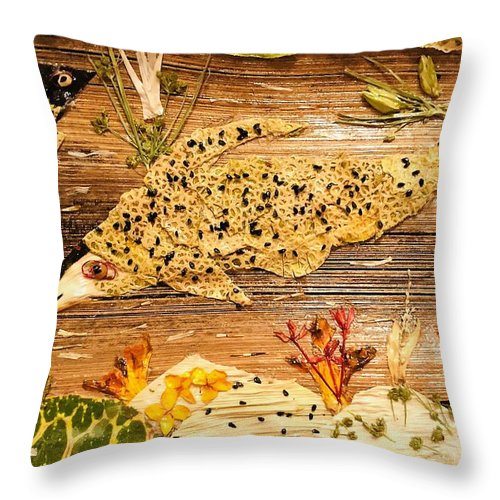 Fish Live Throw Pillow featuring the mixed media Movement Of Life by Suma Parveen