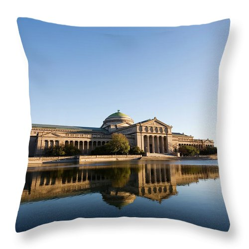 Built Structure Throw Pillow featuring the photograph Museum Of Science And Industry, Chicago by Stevegeer