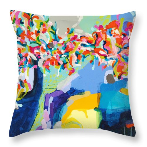 Abstract Throw Pillow featuring the painting My Vanity by Claire Desjardins