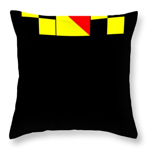 Boater Throw Pillow featuring the digital art Nautical Signal Flags Lol Laughing Out Loud by Beth Scannell