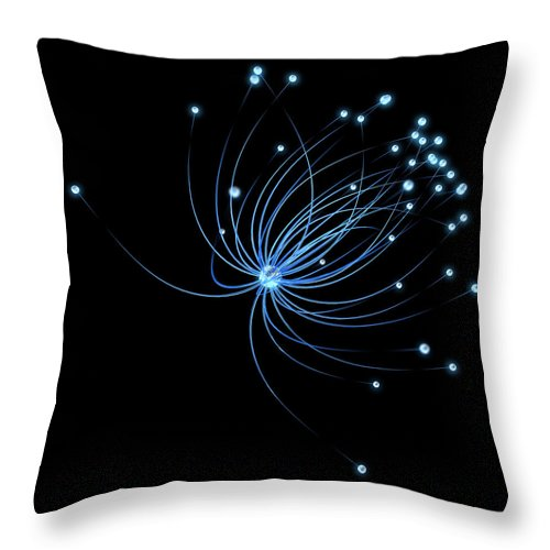 Internet Throw Pillow featuring the photograph Network by Enot-poloskun