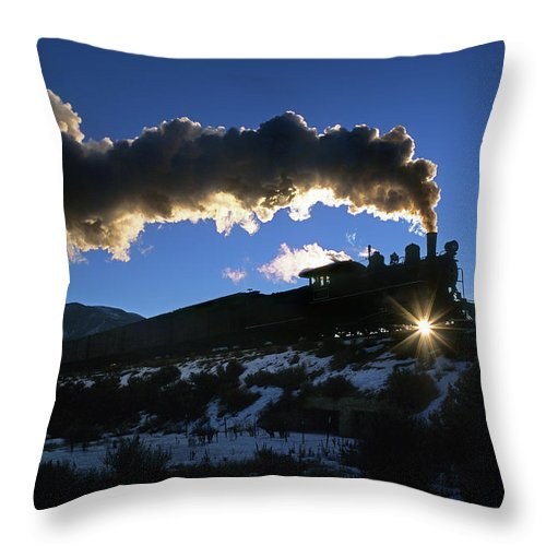Freight Transportation Throw Pillow featuring the photograph Nevada Sunrise by Mike Danneman