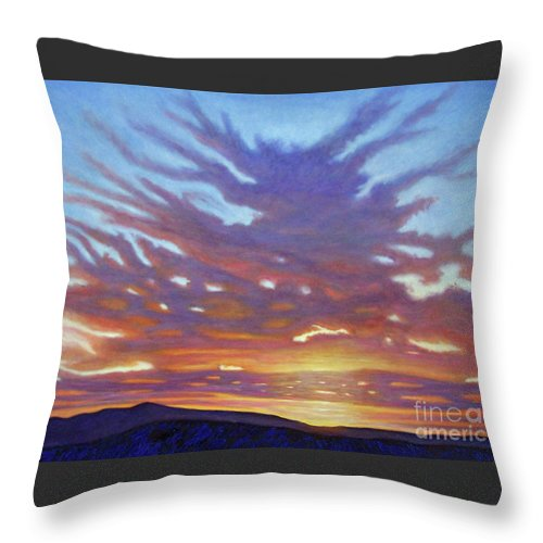 Landscape Throw Pillow featuring the painting New Mexico II by Brian Commerford