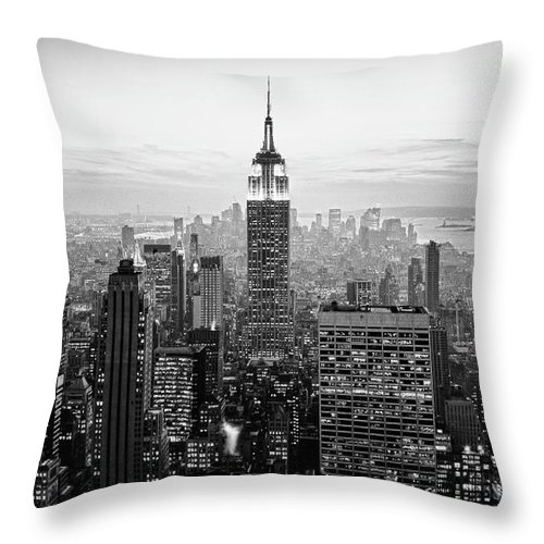 Outdoors Throw Pillow featuring the photograph New York City by Randy Le'moine
