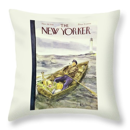New Yorker November 30 1946 Throw Pillow For Sale By Perry Barlow