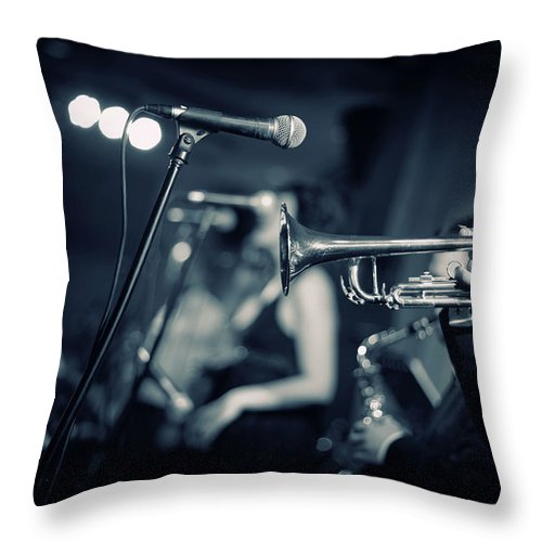 Singer Throw Pillow featuring the photograph Night Club by Tunart