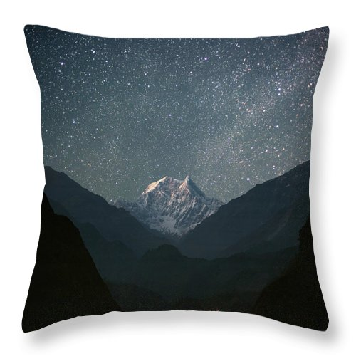 Himalayas Throw Pillow featuring the photograph Nilgiri South 6839 M by Anton Jankovoy