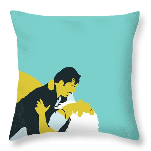 Before Throw Pillow featuring the digital art No1011 My Before Sunrise Minimal Movie Poster by Chungkong Art