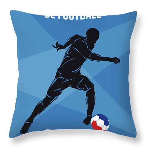 World Throw Pillow featuring the digital art No16 My 1998 France Soccer World Cup Poster by Chungkong Art