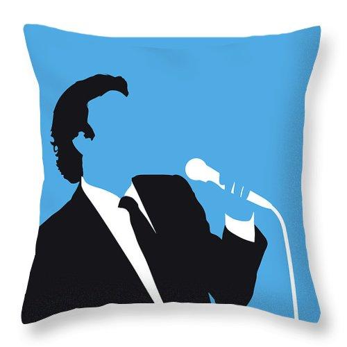 Julio Throw Pillow featuring the digital art No279 My Julio Iglesias Minimal Music Poster by Chungkong Art