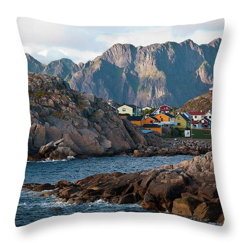 Tranquility Throw Pillow featuring the photograph Norway by Brigitte Hermans