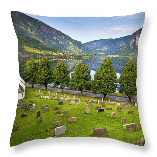 Tranquility Throw Pillow featuring the photograph Norway by Manuel Romaris