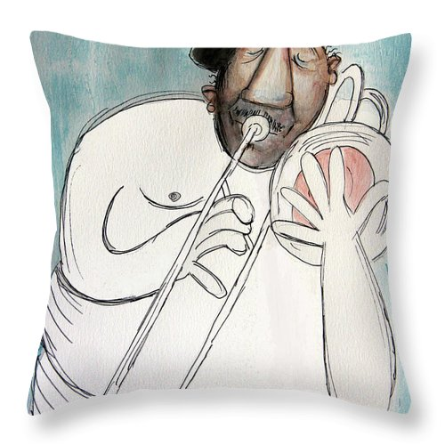 Cubist Throw Pillow featuring the painting Nude To The Bone by Anthony Falbo