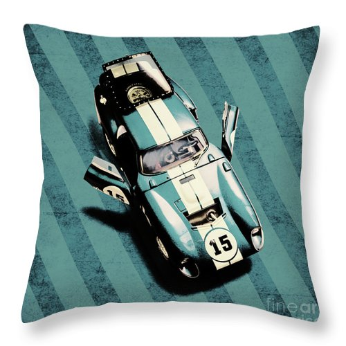 Car Throw Pillow featuring the photograph Number 15 by Jorgo Photography - Wall Art Gallery