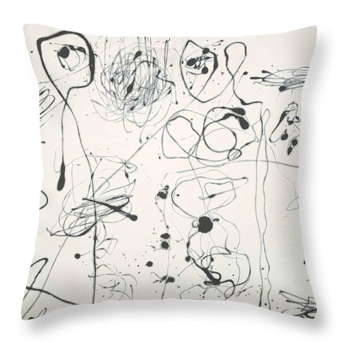 Jackson Pollock Throw Pillow featuring the painting Number  A by Jackson Pollock