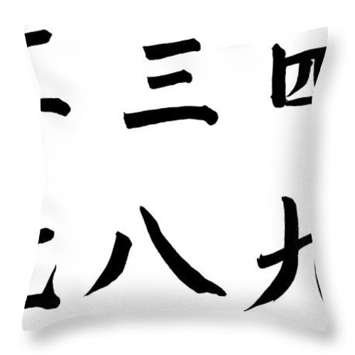 Chinese Culture Throw Pillow featuring the photograph Number One To Ten In Chinese by Blackred