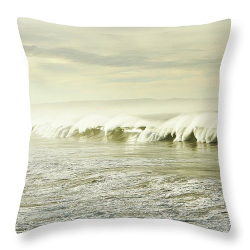 Pismo Beach Throw Pillow featuring the photograph Ocean At Sunrise by Kevinruss