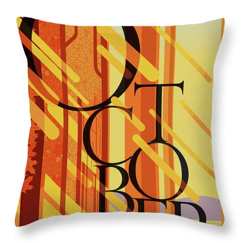 October Throw Pillow featuring the digital art October by Garth Glazier
