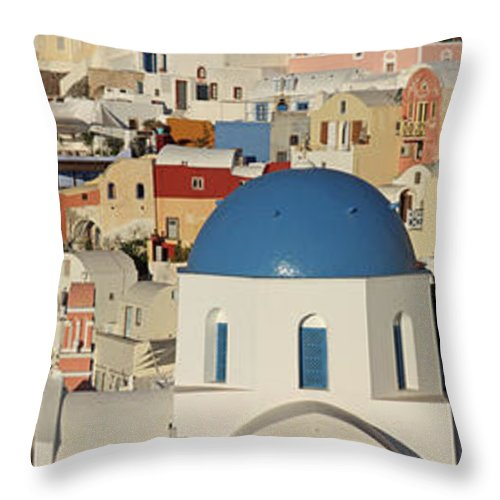 Tranquility Throw Pillow featuring the photograph Oia Architecture by Sandra Kreuzinger
