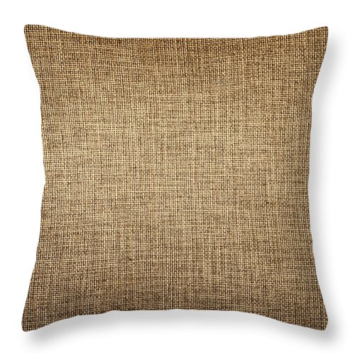 Material Throw Pillow featuring the photograph Old Canvas Fabric by Ithinksky