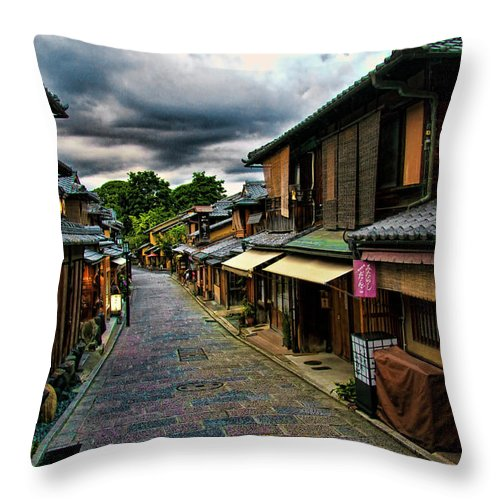 Tranquility Throw Pillow featuring the photograph Old Kyoto by Copyright Artem Vorobiev