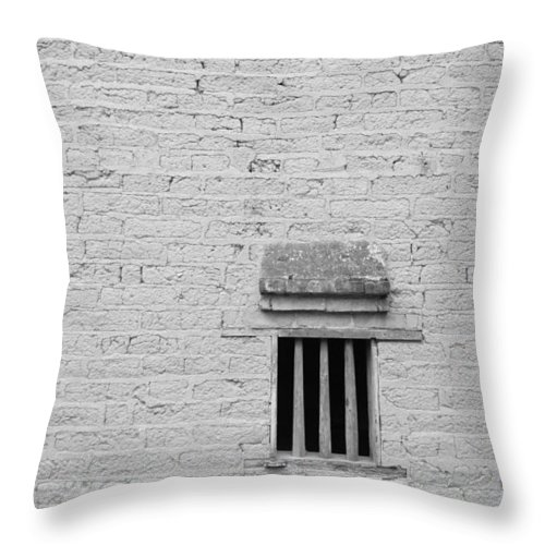 Toughness Throw Pillow featuring the photograph Old Prison by Blackred